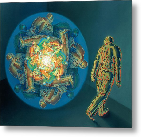 Introspection Metal Print by De Es Schwertberger