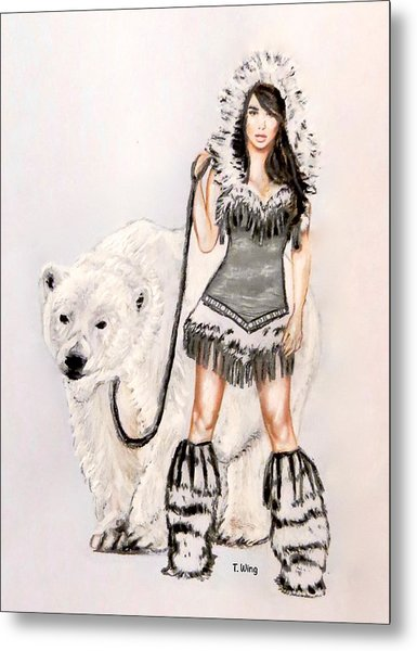 Inuit Pin-up Girl Metal Print