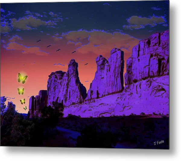 Invaders Arrive Metal Print