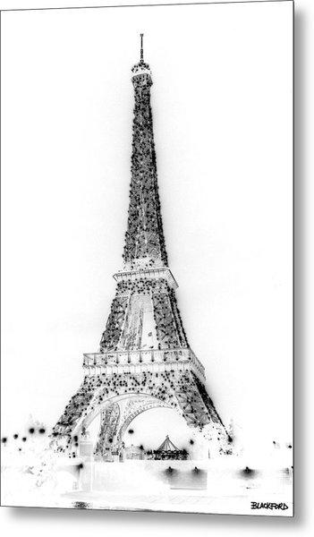 Inverted Eiffel Tower Metal Print by Al Blackford