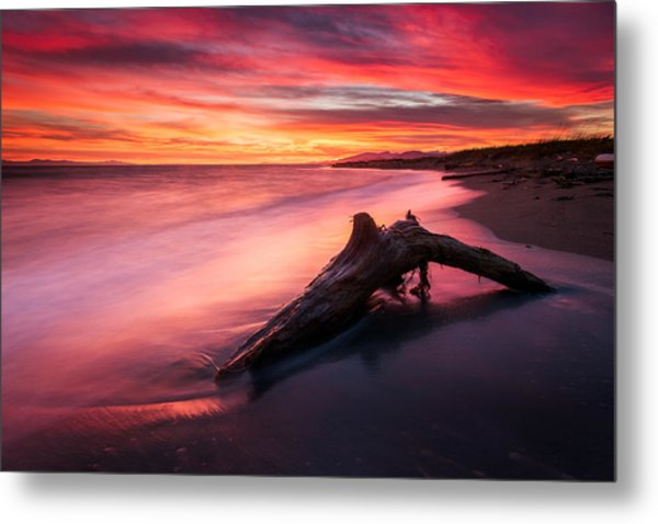 Iona Beach Sunset Metal Print