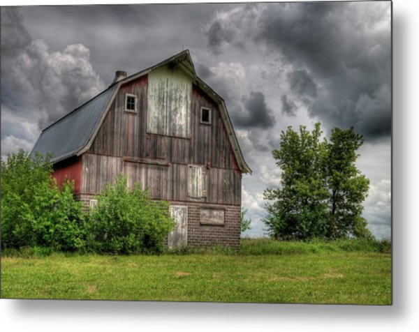 Iowa Barn Metal Print