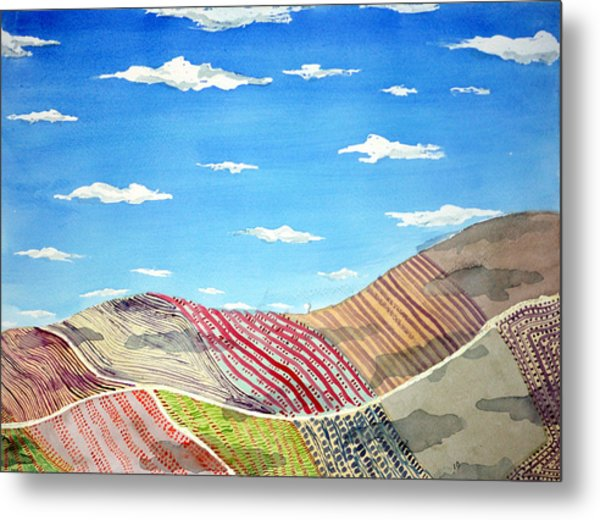 Iowa Fields  Iowa Clouds Metal Print by Jame Hayes