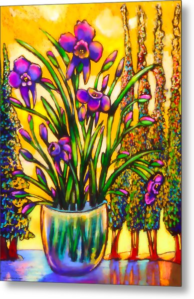 Iris Metal Print by Angelina Marino
