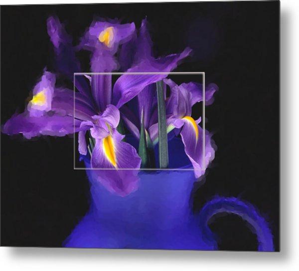 Iris In Blue Picture Metal Print by Daniel D Miller