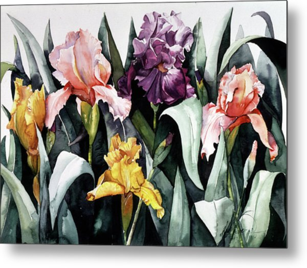 Iris Integration Metal Print by Leah Wiedemer