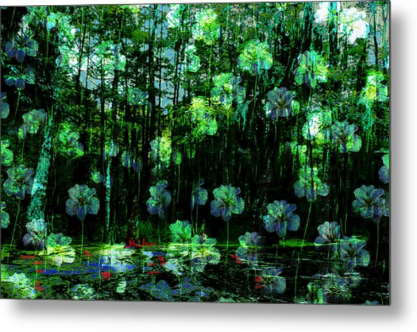Irises Falling From A Southern Sky  Metal Print