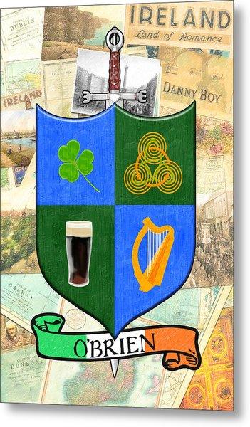 Irish Coat Of Arms - O'brien Metal Print