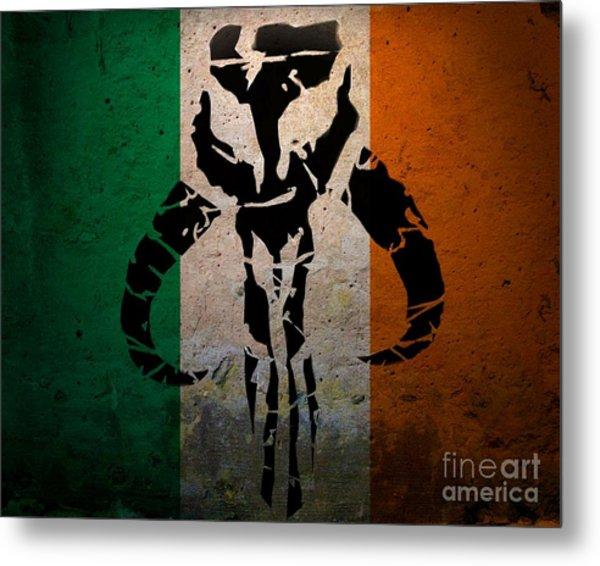 Irish Mandalorian Metal Print