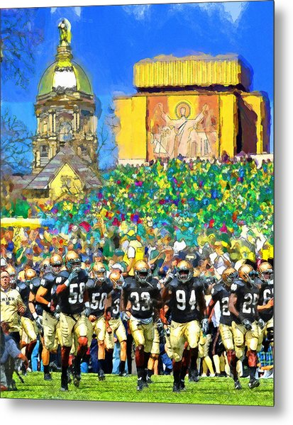 Irish Run To Victory Metal Print