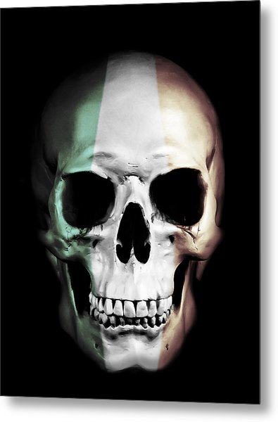 Irish Skull Metal Print