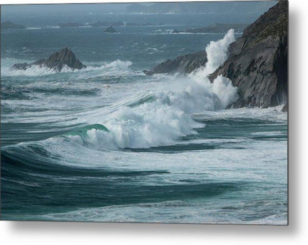 Irish Waves Metal Print