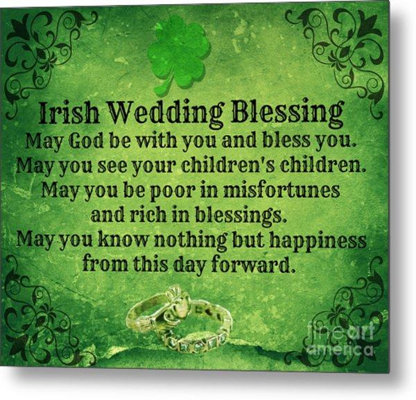 Irish Wedding Blessing Metal Print