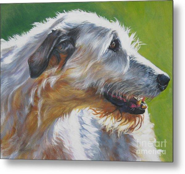 Irish Wolfhound Beauty Metal Print