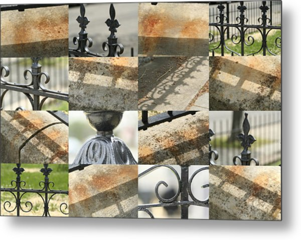 Iron Fence Metal Print