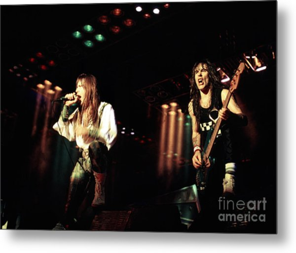 Iron Maiden 1987 Bruce And Steve Metal Print by Chris Walter