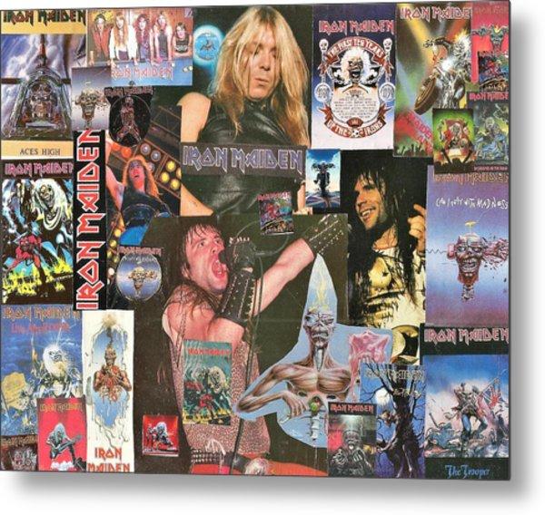 Iron Maiden Collage 1 Metal Print