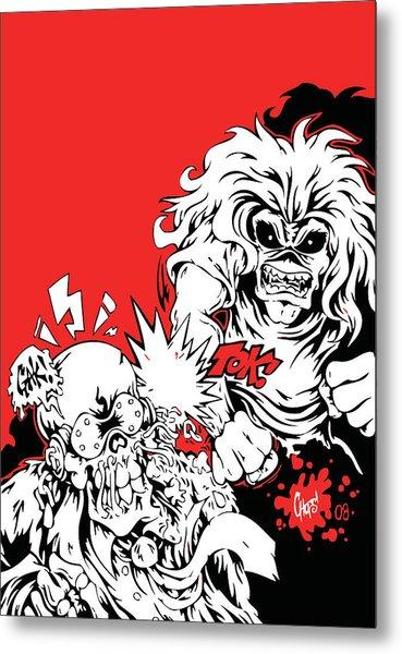 Iron Maiden Vs Megadeth Metal Print