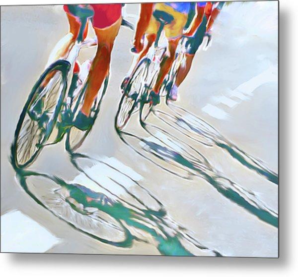 Iron Man Triathlon Metal Print