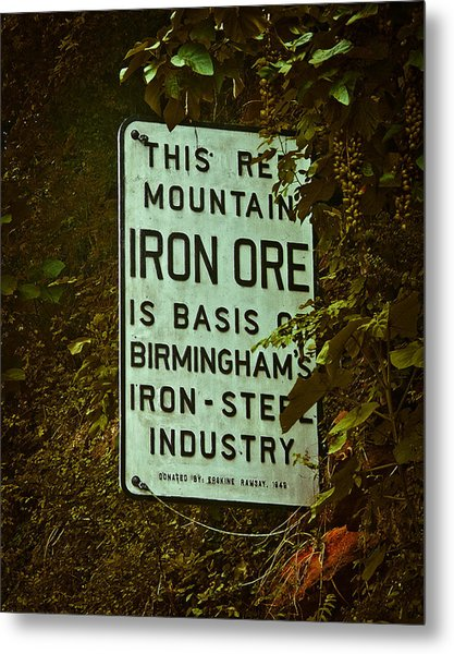 Iron Ore Seam Metal Print