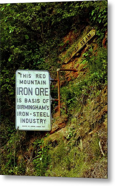 Iron Ore Seam Marker Metal Print