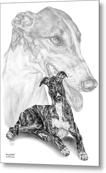 Irresistible - Greyhound Dog Print Metal Print