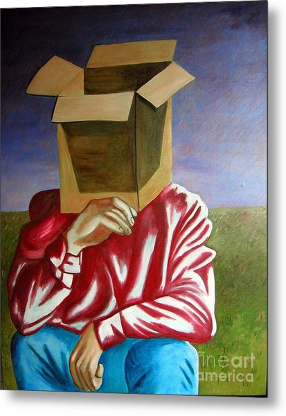 Is The Self Just An Empty Box Metal Print by Tanni Koens