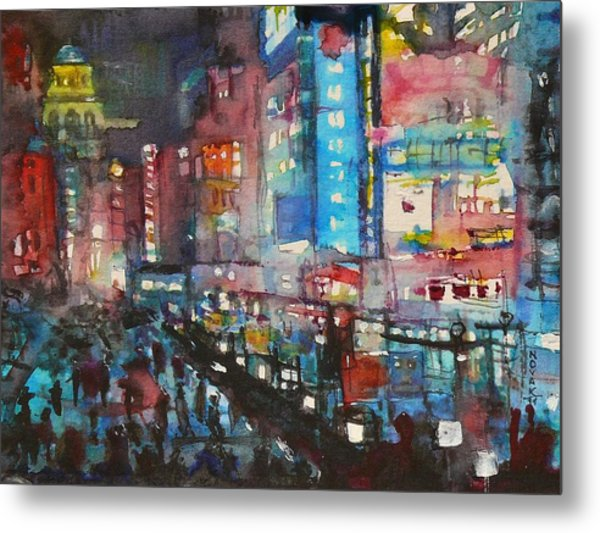 Is There Anything Going On Tonight In Downtown Metal Print by Dreja Novak