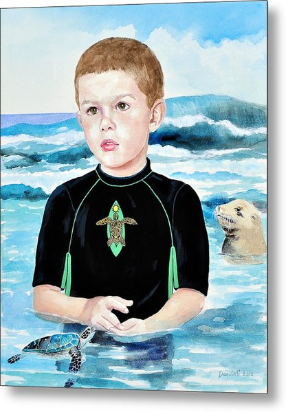 Isaiah Son Of Neptune Metal Print