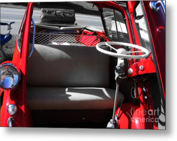Isetta By The  Front Door  Metal Print by Steven Digman