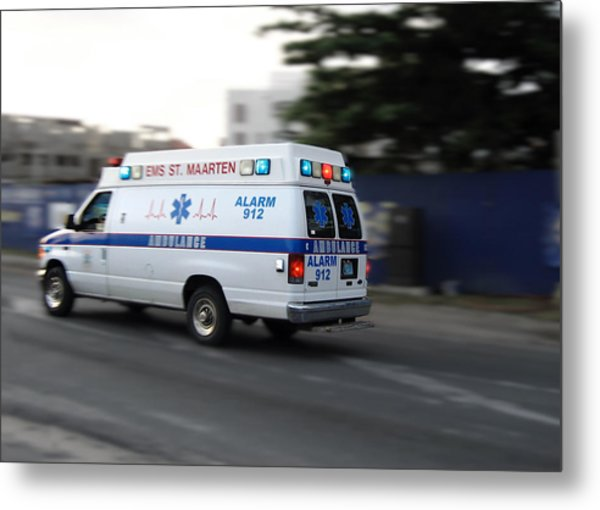 Island Ambulance Metal Print