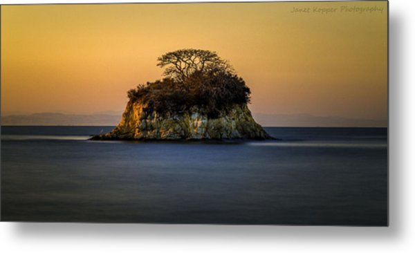 Island At Sunset Metal Print