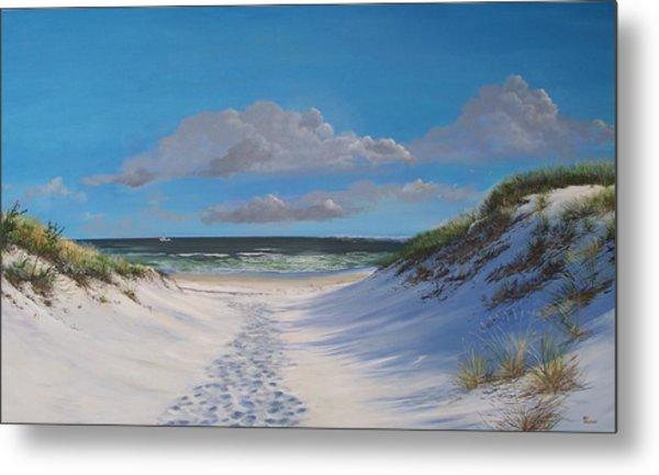 Island Beach Dune Walk Metal Print