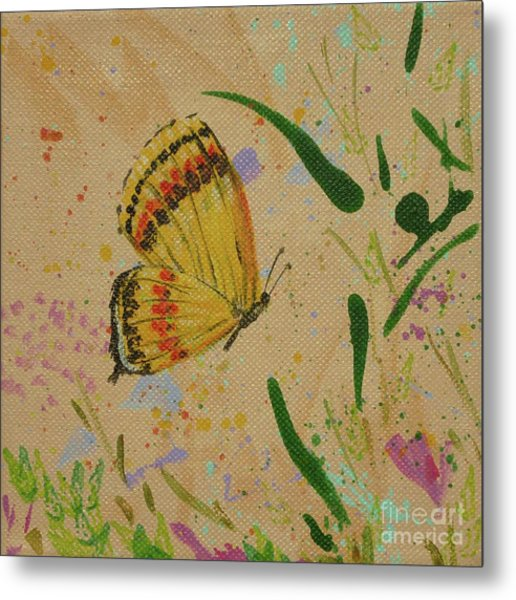 Island Butterfly Series 1 Of 6 Metal Print