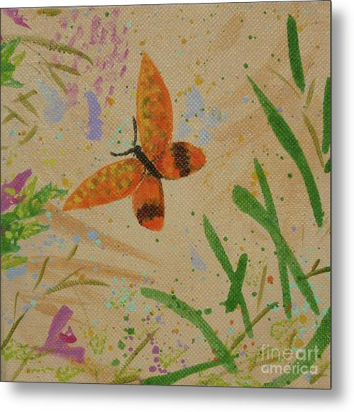Island Butterfly Series 3 Of 6 Metal Print