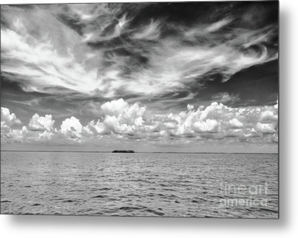 Island, Clouds, Sky, Water Metal Print