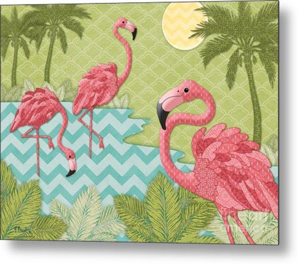 Island Flamingo - Horizontal Metal Print
