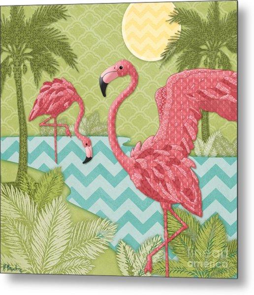 Island Flamingo II Metal Print