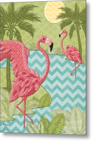 Island Flamingo - Vertical Metal Print