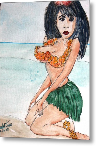 Island Girl Metal Print by Meredith Jones
