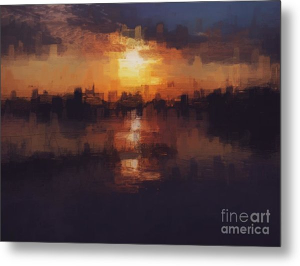 Island In The City Metal Print