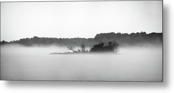 Metal Print featuring the photograph Island In The Fog by Todd Aaron