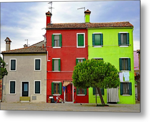 Island Of Burano Tranquility Metal Print