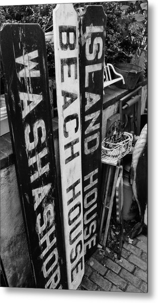Island Signage Metal Print by JAMART Photography