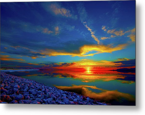 Island Sunset Metal Print