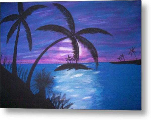 Island Sunset Metal Print by Paula Ferguson