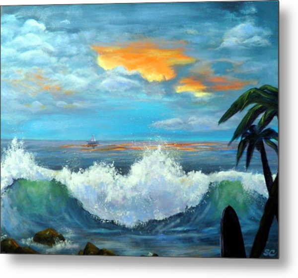 Island Time - Sunset Metal Print