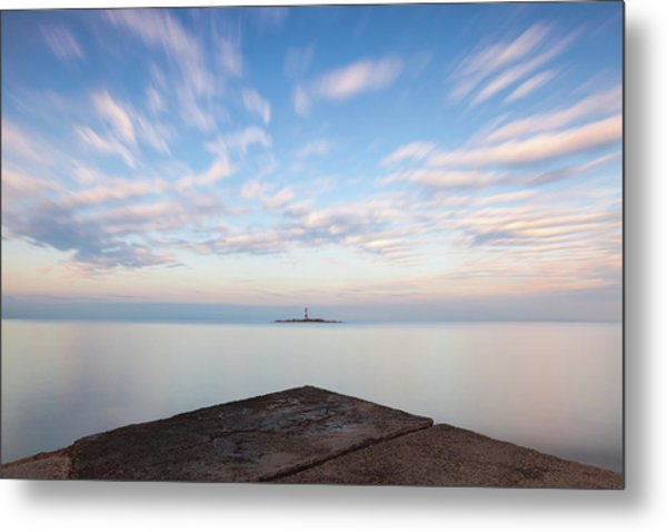 Islet Baraban With Lighthouse Metal Print