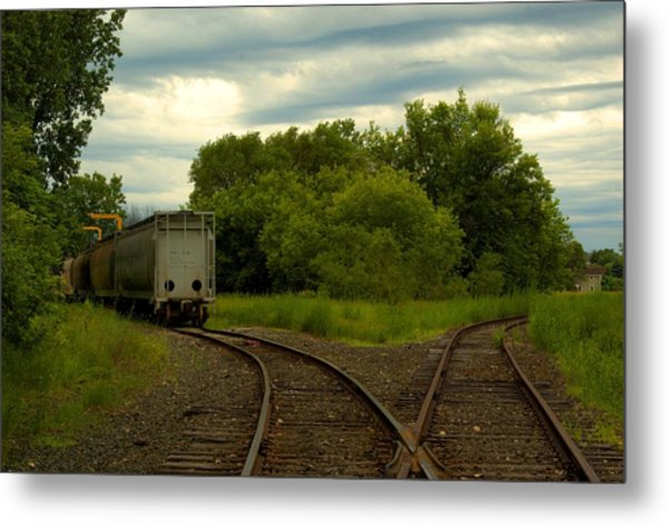 Isolation On The Tracks Metal Print by Nicole Kramer