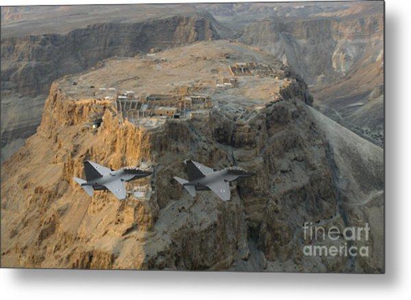 Israeli Air Force Lavi Over Massda  Metal Print
